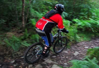 Adam riding the Rock Garden at Gethin, South Wales