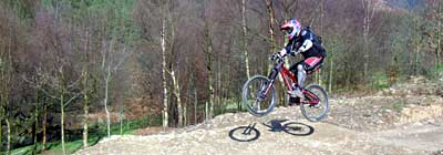 Brett Stevens on the new Mojo Track at Cwm Carn, South Wales