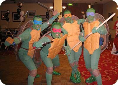 The Teenage Mutant Ninja Turtles!
